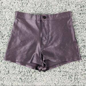 American Apparel Dark Silver Disco Shorts